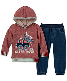 Kids Headquarters Little Boys Hoodie & Joggers Set