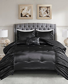 Madison Park Devon Full/queen 4 Piece Silky Satin Comforter Set