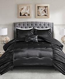 Madison Park Devon Full/queen 4 Piece Silky Satin Comforter Set
