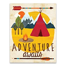 Adventure Awaits Teepee Printed Canvas