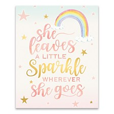 She Leaves a Little Sparkle Printed Canvas