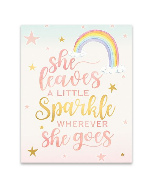 Artissimo Designs She Leaves a Little Sparkle Printed Canvas