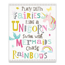 You Play with Fairies Printed Canvas