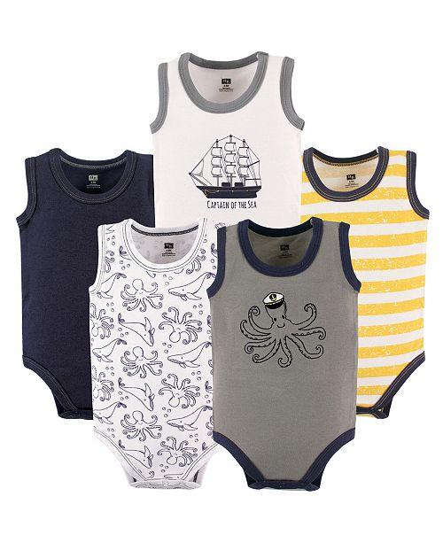 501e09456 Baby Vision Hudson Baby Sleeveless Bodysuits, 5-Pack, Pineapple, 9 ...