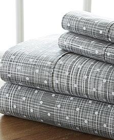 Home Collection Premium Ultra Soft Polka Dot Pattern 4 Piece Bed Sheet Set