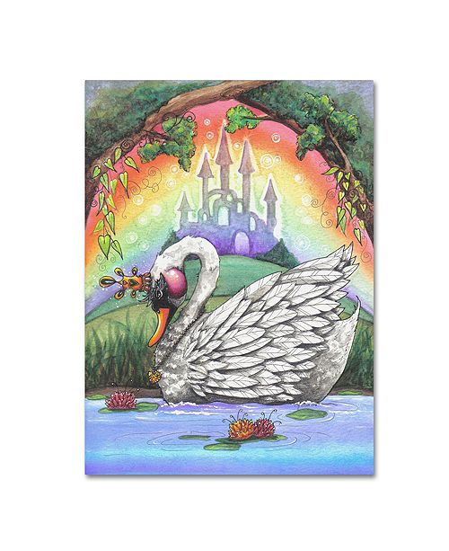 "Trademark Global Jennifer Nilsson The Swan Princess Canvas Art - 16"" x 20"" x 0.5"""