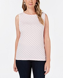 Dotted Boat-Neck Shell, Created for Macy's