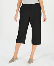 Karen Scott Petite Drawstring Capri Pants, Created for Macy's