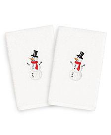 Linum Home Snowman 100% Turkish Cotton 2-Pc. Hand Towel Set