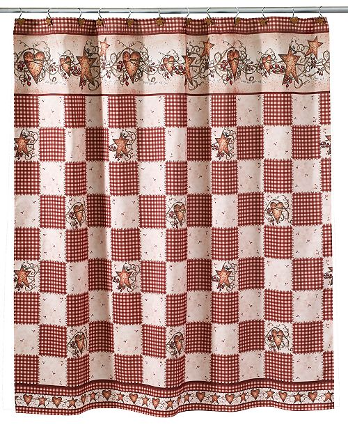 Avanti Hearts And Stars Shower Curtain