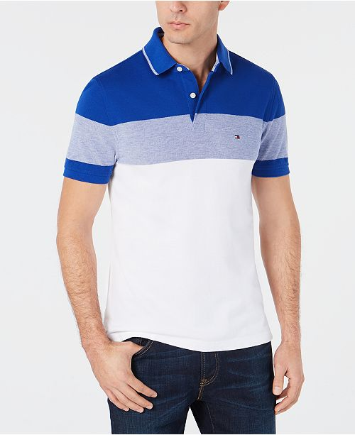 653e523c Tommy Hilfiger Dylan Men's Custom Fit Striped Polo, Created for Macy's