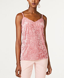 I.N.C. Velvet & Lace Camisole, Created for Macy's