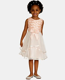 Little Girls Basket Weave Mesh Dress