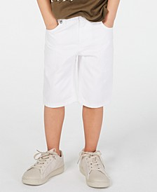 Little Boys White Denim Shorts, Created for Macy's