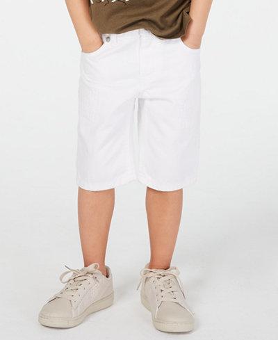 Epic Threads Toddler Boys White Denim Shorts, Created for Macy's