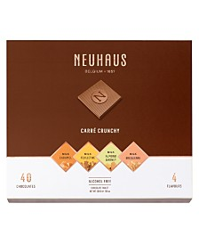 Neuhaus Carre Crunchy 40-piece Individually Wrapped Milk Chocolate Square Gift Box