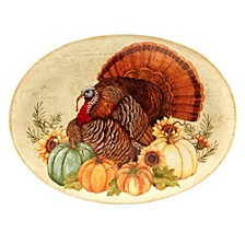 Autumn Fields Oval Turkey Platter