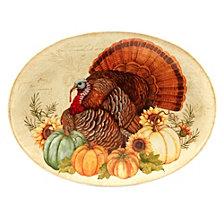 Certified International Autumn Fields Oval Turkey Platter