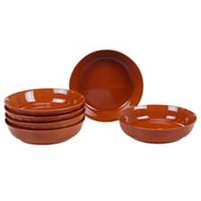 Certified International Autumn Fields Orbit Pumpkin 6-Pc. Soup/Pasta Bowl