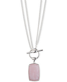 "Lauren Ralph Lauren Stone Convertible Pendant Necklace, 18"" or 36"""