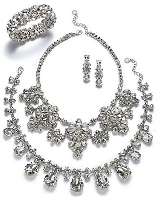 Charter Club Silver-Tone Crystal Jewelry Separates, Created for Macy's