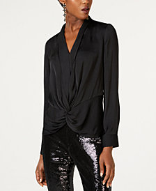 I.N.C. Twist-Front Blouse, Created for Macy's