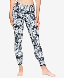 Gaiam X Jessica Biel Nolita Printed High-Rise Ankle Leggings