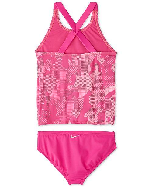 5e09f843deb77 Nike Big Girls 2-Pc. Optic Camo Crossback Tankini & Reviews ...