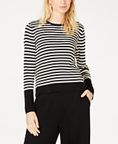 cffd0501af Eileen Fisher Tencel ™ Round-Neck Striped Sweater