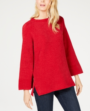 Eileen Fisher Cottons CHENILLE ROUND-NECK SWEATER, REGULAR & PETITE