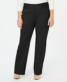 Plus Size Wide-Leg Tummy-Control Pants, Created for Macy's