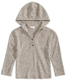 Monteau Big Girls Cropped Hooded Sweater