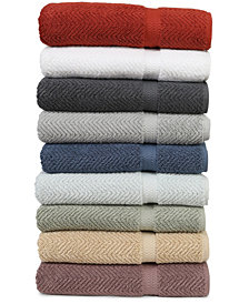 Linum Home Herringbone Bath Towel