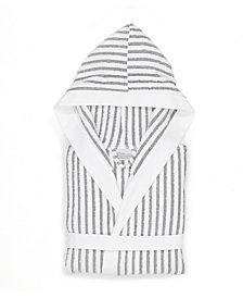 Linum Home Textiles Alev Terry Stripe Hooded Unisex Bathrobe