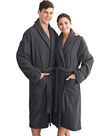 Unisex Herringbone Weave Bath Robe
