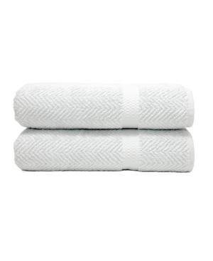 Linum Home Herringbone 2-Pc. Bath Towel Set Bedding