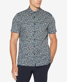 Perry Ellis Men's Regular-Fit Performance Stretch Floral-Print Shirt