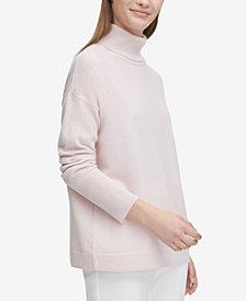 Calvin Klein Cashmere Solid Turtleneck Sweater