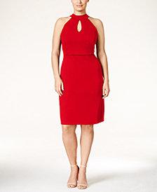 Love Squared Plus Size Halter Cutout A-Line Dress