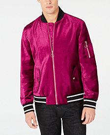 I.N.C. Men's Velvet Bomber Jacket, Created for Macy's