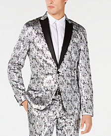 Men's Slim-Fit Metallic Jacquard Blazer, Created for Macy's