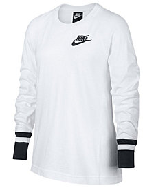 Nike Big Girls Mesh-Sleeve T-Shirt