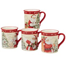 Certified International Holiday Wishes 4-Pc. Mug asst.
