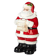 Certified International Holiday Wishes 3-D Santa Cookie Jar