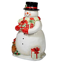 Certified International Starry Night Snowman 3-D Snowman Cookie Jar