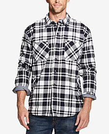 Weatherproof Vintage Mens Plaid Flannel Shirt Jacket, Created for Macys
