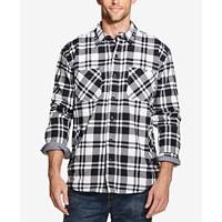 Deals on Weatherproof Vintage Mens Plaid Flannel Shirt Jacket