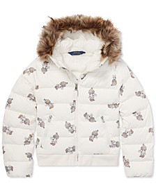 Big Girls Polo Bear Quilted Down Jacket