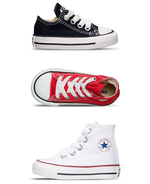 86aa45b84ecb Converse Toddler Boys  Chuck Taylor All Star Ox Casual Sneakers from Finish  Line