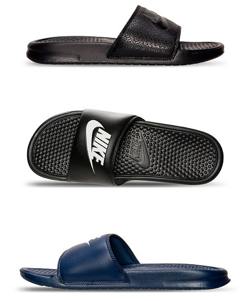 516253221de4 Nike Men s Benassi JDI Slide Sandals from Finish Line   Reviews ...